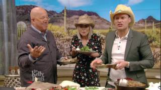 Bizarre Foods' Andrew Zimmern brings cowboy-themed bizarre foods for Kelly & Ryan to taste.