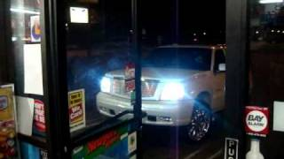 SMD Escalade Tears up Sonnys Liquor (8 18's 30k watts!)