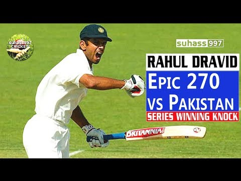Download (HD) Rahul Dravid magnificent 270 vs Pakistan - SERIES WINNING KNOCK! HD Mp4 3GP Video and MP3