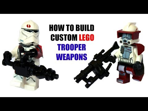 LEGO Custom Weapons Tutorial Star Wars LEGO MOC / How To Build Star Wars Battlefront 2 WEAPONS
