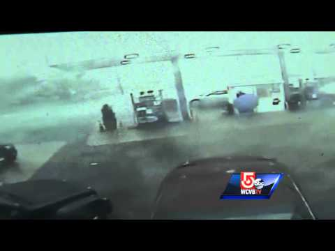 Auto - Surveillance cameras at a Revere auto body shop were able to capture the moment a tornado swept through the city before being cut off when the power went out. Subscribe to WCVB on YouTube now...