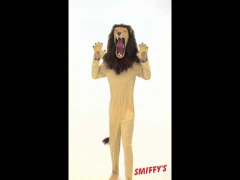 Smiffy's Cirque Sinister Vicious Lion Costume Beige