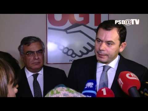 Luís Montenegro após reunião com a UGT