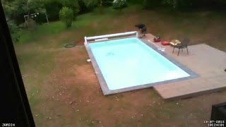 Construction piscine : 19/07/2012 ( Volet roulant  -- Timelapse)