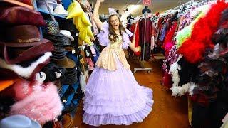 Trying on Disney Princess Dresses!