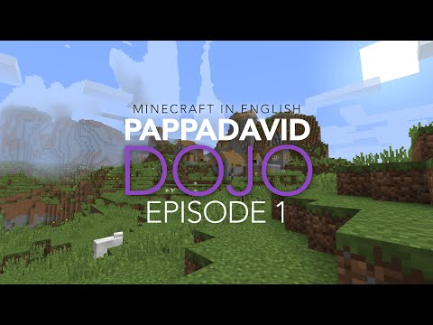 The Minecraft Dojo - PappaDavid In English - Episode 1