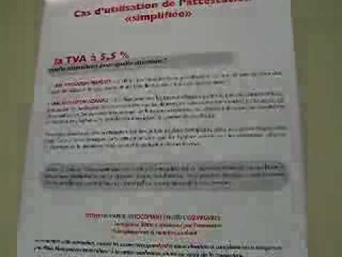 Comment remplir attestation d 39 hebergement la r ponse est - Attestation tva 5 5 ...