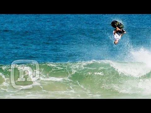 Wakeboard - Professional wakeboarders Danny Harf, Shane Bonifay, Daniel Watkins and Shawn Watson get towed in and surf waves down at Ballina Beach in Australia. Wakeboar...