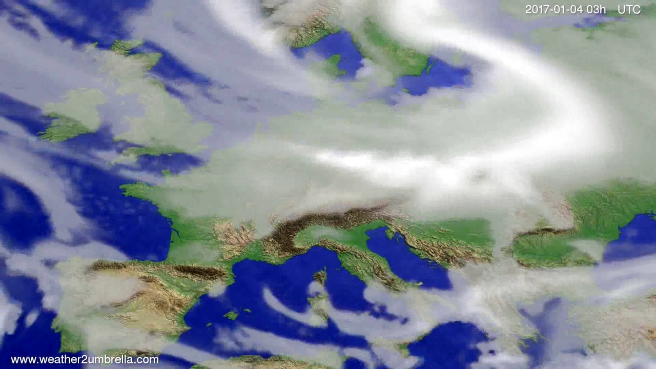Cloud forecast Europe 2017-01-01