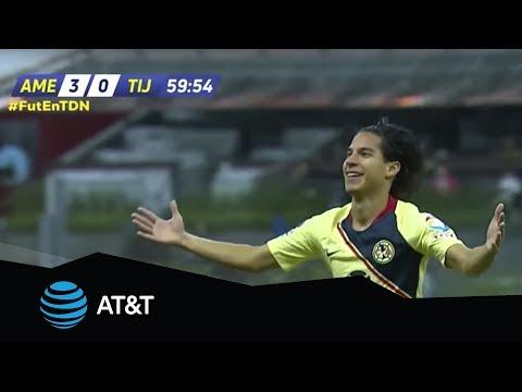 Video Gol de Diego Laínez   América 3 - 0 Tijuana   Apertura 2018 - Jornada 13   Televisa Deportes download in MP3, 3GP, MP4, WEBM, AVI, FLV January 2017