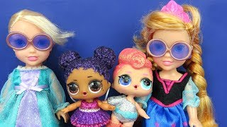 Video LOL Surprise Dolls ! Elsa and Anna toddlers - Big Fizz balls - Bath - Confetti Pop MP3, 3GP, MP4, WEBM, AVI, FLV September 2018