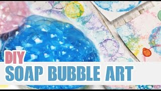 DIY: Soap Bubble Art | Personalize your Notebooks! - YouTube