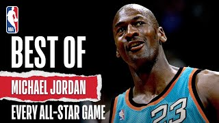 Check out the best plays of Michael Jordan from each NBA All Star Game he played in!