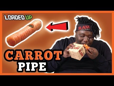 Smoking Weed With A Carrot Pipe