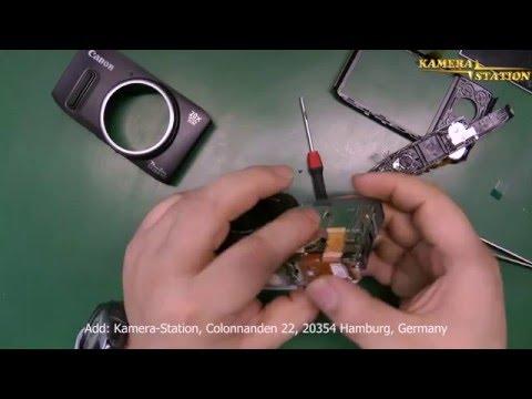1A106 So baut man ein neues Canon PowerShot SX240 SX260 HS Display ein, lcd repair, Kamera station