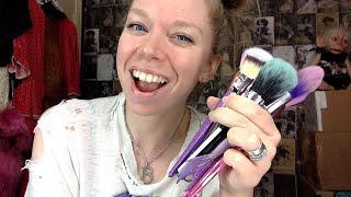 wash makeup brushes with me by GRAV3YARDGIRL