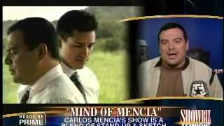 CARLOS MENCIA On SHOW BIZ Tonight - Great Interview, Good Clips for the Show