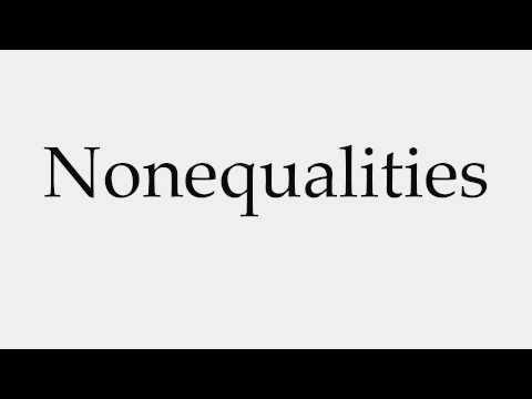 How to Pronounce Nonequalities