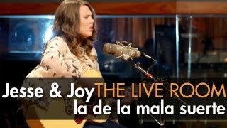 Jesse & Joy La De La Mala Suerte captured in The Live Room