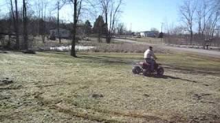 5. Crotch rocket quad tearing up the yard.  Yamaha 600 warrior