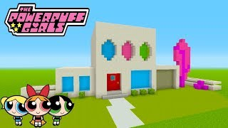 Minecraft Tutorial: How To Make The PowerPuff Girls House (The PowerPuff Girls )