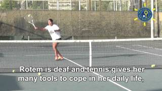 Father of a deaf tennis player, Rotem Ashkenazi, speaks about her