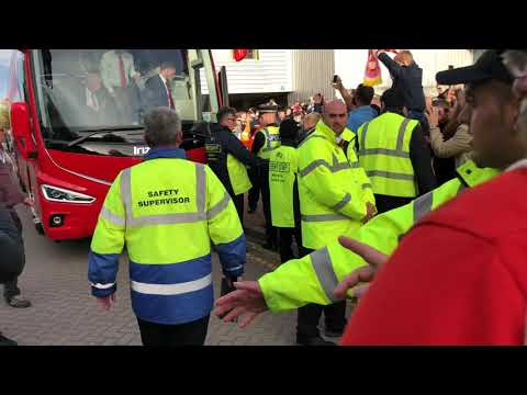 Liverpool FC & Mo Salah Arrive At Huddersfield Town October 2018