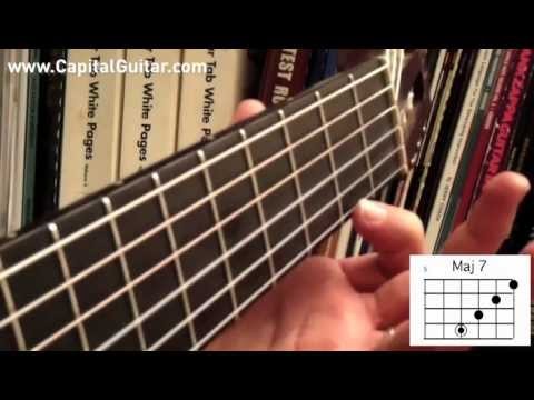 66 Bossa Nova Guitar Chords Pt. 1: Major voicings