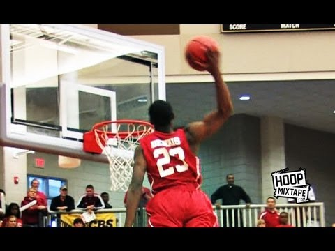 5'11 Isaiah Dennis Elevates Over 2 People And Wins The 2013 High School Slam!