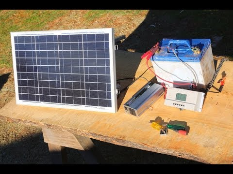 How to Build  a Basic Portable Solar Power System  – Camping, Boating, off Grid Living