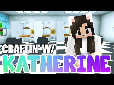 Minecraft HAIR SALON + BARBER SHOP! Craftin' w/ Katherine Ep. 36