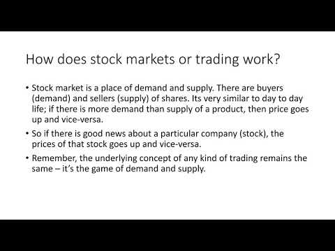 Stock Market Training - How does Stock Markets or Trading Work?