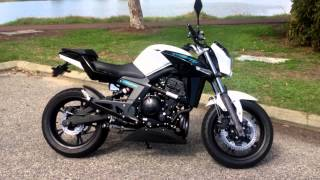 10. CF moto 650NK - Two Brothers titanium slip-on exhaust sounds loud