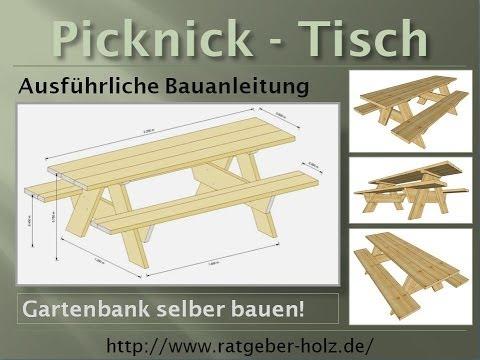 Einen Picknick Tisch selber bauen (Bauanleitung - Intro)