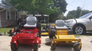 7. A little side by side of the gravely and raptor