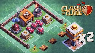 DOUBLE CRUSHER AND ROASTER TROLL BASE | Clash of Clans | Funny CoC BH 6 Trolling