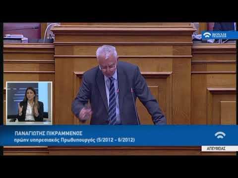 Π.Πικραμμένος(Πρώην Πρωθυπουργός)(Συζήτηση για τη διενέργεια προκ/κής εξέτασης)(21/02/2018)