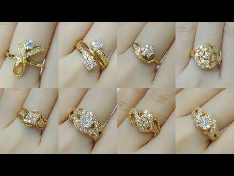 Latest 22k Gold and Diamond Korean Rings Designs Under 2 to 5 Gram