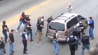 Amerykańska policja w Chicago się nie pie**oli… zatrzymanie przestępcy.