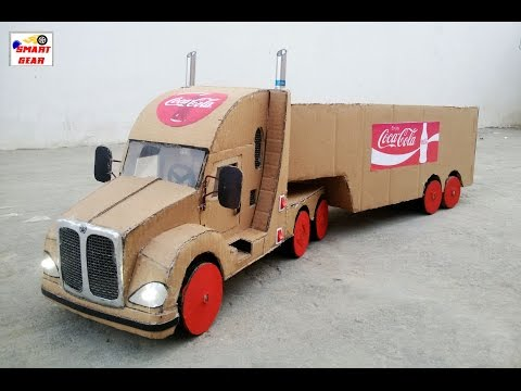 WOW! Amazing Coca Cola Truck Container DIY At Home  || How To Make Truck Container 9v Battery