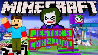 Minecraft - BatKnight - Jester's Carnival and Puffin Fun!