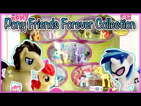 collection - During my random visit to Toys-R-Us with my sister, I spotted this new My Little Pony MLP Ponyville set - Pony Friends Forever Collection! Dr. Hooves and DJ Pon-3 were only available in rainbow...
