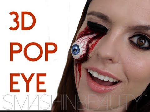 EASY 3D Pop Eye SFX Halloween Makeup Tutorial 2014