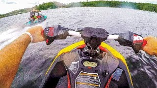 8. SeaDoo Spark Trixx 900 2up VS 3up Race and Rippin