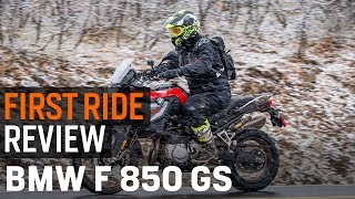 1. BMW F 850 GS First Ride Review