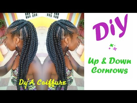 DIY ★ Up & Down Cornrows - By Dy'A