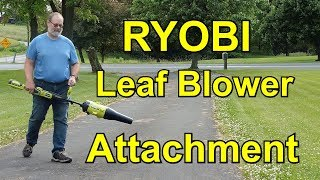 "4. RYOBI EXPAND-ITâ""¢ JET FAN BLOWER ATTACHMENT Unboxing and Testing Review - Leaf Snow Blower - RMM0184"
