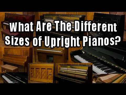 What Are The Different Sizes of Upright Pianos?