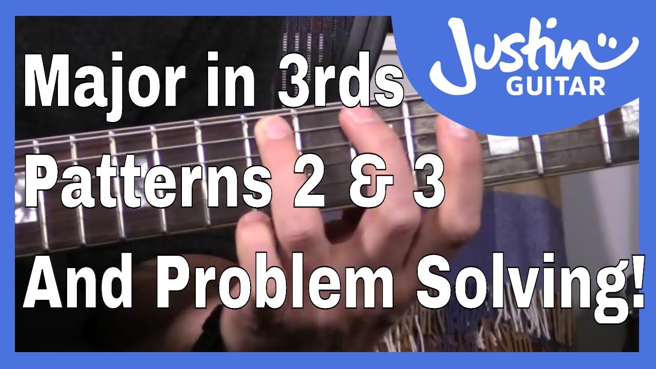 Major Scale In 3rds (Patterns 2 and 3) A Melodic Approach To Scale Practice Guitar Lesson