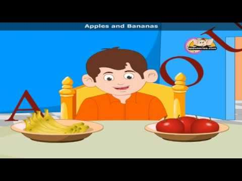 Apples and Bananas - Nursery Rhyme
